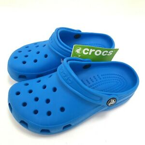 New Crocs Size 2 Blue Children's Casual Occasion Slip on Summer Rubber 421409