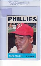 1964 TOPPS AUTOGRAPHED #157 GENE MAUCH PHILLIES GOOD #002414