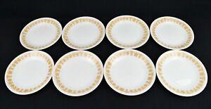"Corelle BUTTERFLY GOLD Set of 8 Bread & Butter/Dessert Plates 6 3/4"" Corning VTG"