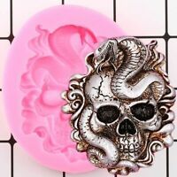 Skull Silicone Mould Fondant Cake Mould Resin Gypsum Chocolate Candle Candy Mold