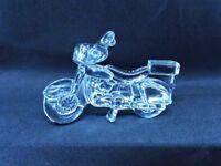 "MIKASA Germany Crystal Glass Motorcycle Ornament  Figurine 3"""