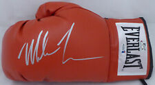 MIKE TYSON AUTOGRAPHED RED EVERLAST BOXING GLOVE LH IN SILVER BECKETT 155774