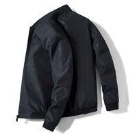 Men's Biker Bomber Motorcycle Jacket Coat Casual Slim fit Tops Spring Autumn NEW