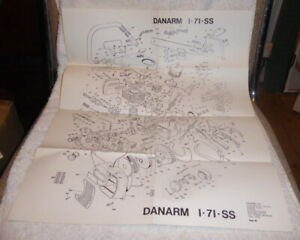 Vintage chainsaw parts drawing for Danarm 1 - 71 - SS dated 1980