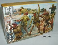 WATERLOO 1815 AP016: WW2 Italian Infantry 1942/3. 1/32 SCALE. 54MM WWII ITALIANS