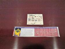 1985 BARRAGE TECH SPEC & STICKER SHEET TRANSFORMERS G1 INSECTICONS ROBOT HASBRO