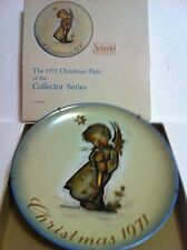 MI Hummel 1971 1st Edition Plate: ANGEL PLATE with Candle & free GIFT X-MAS CD