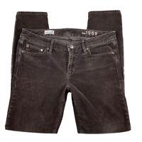 Gap 1969 Women 30 Always Skinny Corduroy Pants Mid Rise Brown
