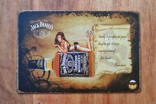 Jack Daniels Metal Wall Plaque, 20x30 cm Tin Sign for Bar, Pub, Shed, Man Cave