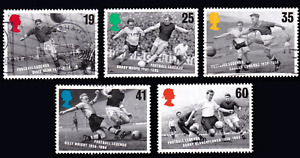 1996 Great Britain Football Legends. Complete set of 5 USED #70c#