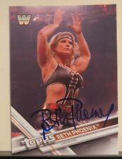 Beth Phoenix signed WWE Topps 2017 card Glamazon  HOF Autograph