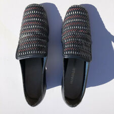 Vtg 60s Navy Block heel Shoes with red and white striped top Fabulous! 5.5-6m