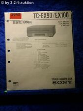 Sony Service Manual TC EX90 / EX100 Cassette Deck  (#2642)