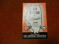VINTAGE 10 TOURS IN ILLINOIS 1940 TOURIST BOOK BOOKLET HISTORIC STATE PARKS