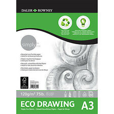 Daler Rowney Simply Eco Drawing Pad - 100% Recycled Paper - A3