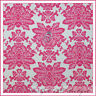 BonEful Fabric FQ Cotton Quilt VTG Cream Pink Rose Flower Damask Santorini Toile