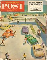 JULY 23 1955 SATURDAY EVENING POST magazine BEACH PARKING LOT - CARS