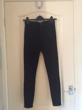 Miss Selfridge Size 6 W25 L30 High Waist Black Skinny Jeans 5 Pocket Zip Button