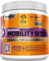 Zesty Paws Senior Advanced Glucosamine for Dogs - for Hip & Joint Arthritis