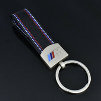 HOT Car styling Leather Belt Chrome Keyring Keychain Key Chain For BMW M Sport e