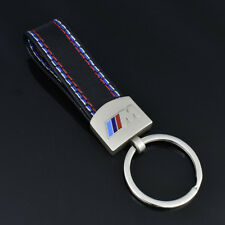 HOT Car styling Leather Belt Chrome Keyring Keychain Key Chain For BMW M Sport