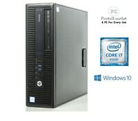 Fast HP 800 G2 SFF PC Core i7-6700 6th 3.4GHz 8GB DDR4 1TB or SSD Windows 10 Pro