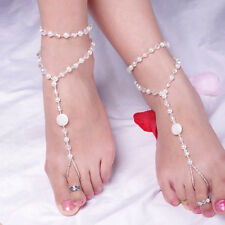 Hots Pearl Foot  Anklet Barefoot Sandals Jewelry Bridal Accessories Charming