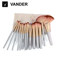 VANDER 32pcs Professional Cosmetic Eyebrow Shadow Makeup Brush Set Champagne