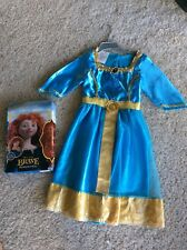Girls Disney Princess Merida  Brave Costume And Her Wig Size 4-6