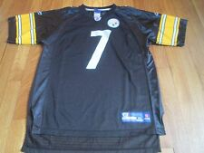 REEBOK NFL PITTSBURGH STEELERS BEN ROETHLISBERGER JERSEY BLACK SIZE YOUTH XL