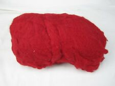 1 LB Core Wool carded needle felting spinning wet felting Walking Palm Red
