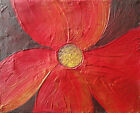 acrylic painting canvas flower modern art artist abstract wall daisy art floral