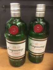 Empty 2 x Tanqueray Gin Bottles 70cl with original lids - Perfect for Upcycling
