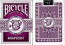 Rhapsody Purple Bicycle Playing Cards Poker Size Deck USPCC Custom Limited New