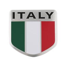 Italie Italy Drapeau Drapeau Logo alu 3d Logo Emblème Autocollant Voiture Moto Bateau