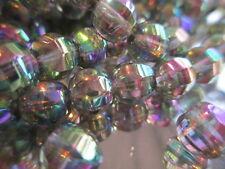 50pcs Vintage West German Mirror Finish Disco Cut Glass 8mm Beads