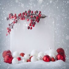 10x10Ft Christmas Snowball Backdrop Photography Prop Studio Photo Background