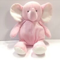 Carters Pink Elephant Plush Lovey Rattle Stuffed Animal 10 Inch Baby Toy