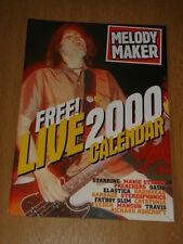 MELODY MAKER 2000 CALENDAR GIFT OASIS MANICS RADIOHEAD