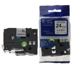 Black on White Label Tape Ruban Compatible for Brother Tape tz251 tze251 24mm