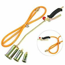 Portable Propane Weed Torch Burner Fire Starter Ice Melter Melting w/Nozzles
