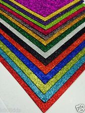 10 x A4 QUALITY GLITTER FOAM SHEETS > MANY COLOURS TO CHOOSE FROM > ARTS & CRAFT