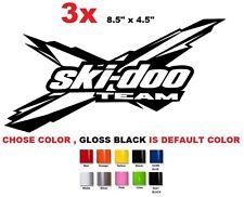 (#17) 3 X Ski-Doo Team brp can-am sticker decal emblem
