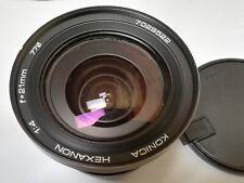 Konica Hexanon 21mm f/4 extra wide angle lens. Fuji x, Sony a7, micro 4/3