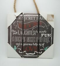 Inspirational Wood Sign Plaque Our secret family recipe Laughter Fun Love #203