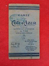 Carte plan 1940/CARTE DE LA CÔTE D'AZUR/