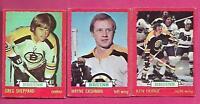 1973-74 OPC BRUINS CASHMAN + HODGE + SHEPPARD  CARD  (INV# A9718)
