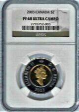 2003 Bi-Metallic Canada $2 NGC PF 68 Ultra Cameo Silver/Gold gilded