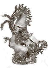 ITALIAN GOLD HORSE SILVER ROMANY GYPSY CHINA ORNAMENT CERAMIC CENTER PIECE UK