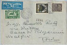 71432 - COLONIE: EGEO Rodi - Storia Postale: FRONTESPIZIO BUSTA  - ALA LITTORIA